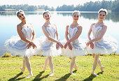 Ballet dancers pose during a media call for the Australian Ballet at Sydney International Regatta Centre on May 6 2016 in Sydney Australia