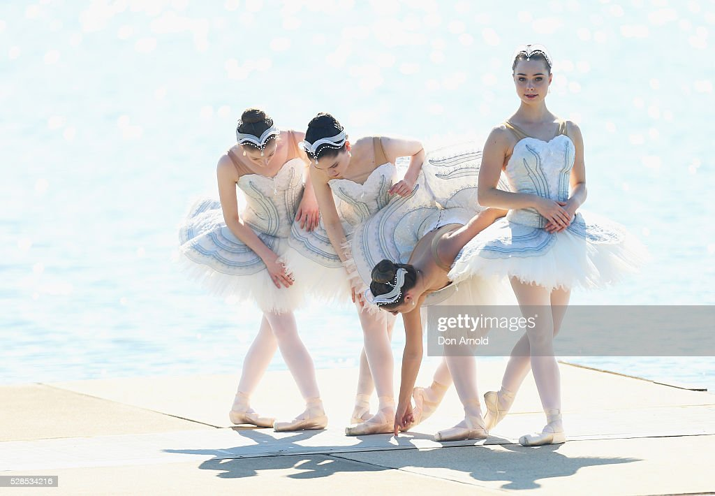 Ballet dancers prepare during a media call for the Australian Ballet at Sydney International Regatta Centre on May 6, 2016 in Sydney, Australia.