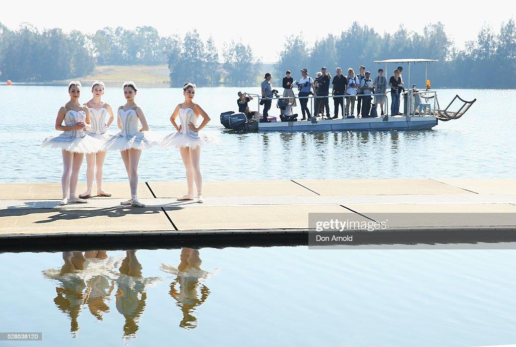 Ballet dancers share a quiet moment during a media call for the Australian Ballet at Sydney International Regatta Centre on May 6, 2016 in Sydney, Australia.