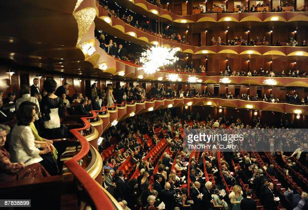 Ballet goers take their seats at the American Ballet Theatre Opening Night Spring Gala on May 18 2009 at the Metropolitan Opera House in New York...