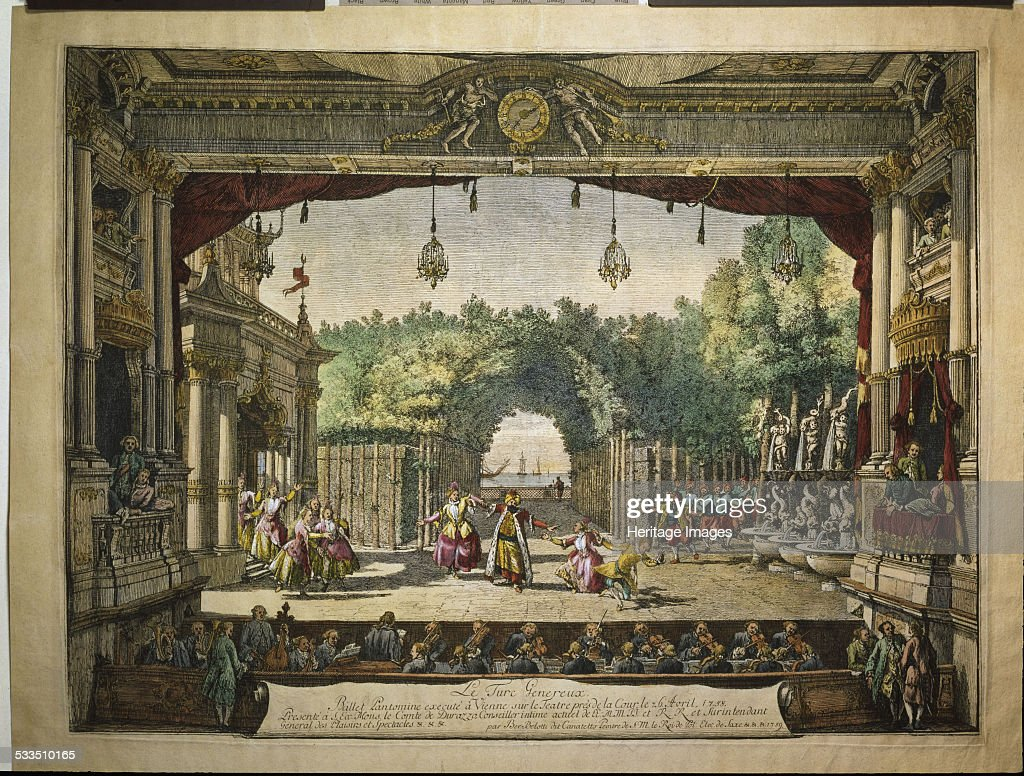 Ballet Le Turc Généreux in the Vienna Burgtheater 1758 Found in the collection of Mozarteum Salzburg