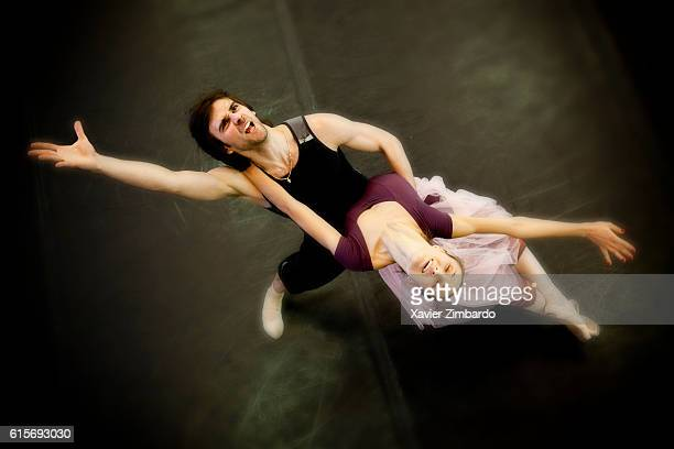 Ballet rehearsal of Lost Illusions by Anastasia Yatsenko Ballet Master repetiteur with great stars Principal Ruslan Skvortsov and Leading Soloist...