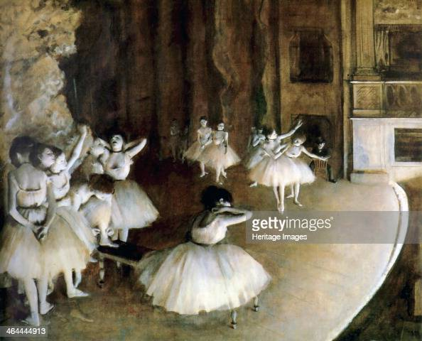 'Ballet Rehearsal on Stage' 1874 Found in the collection of the Musée d'Orsay Paris