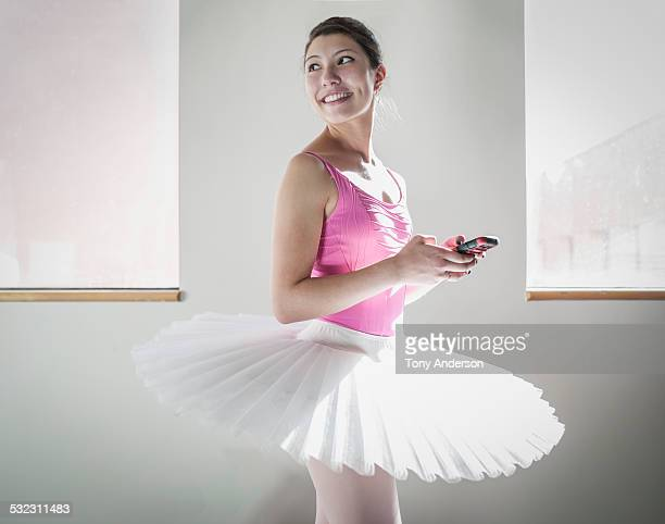 Ballet student backstage before rehersal
