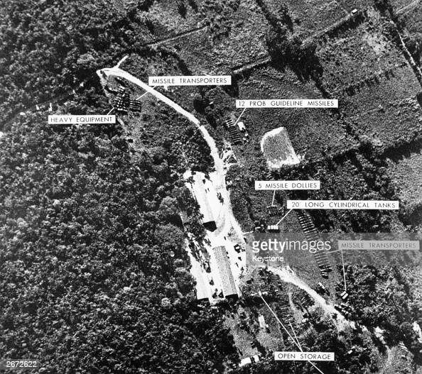 A ballistic missile base in Cuba the evidence with which President Kennedy ordered a naval blockade of Cuba in the Cuban Missile Crisis