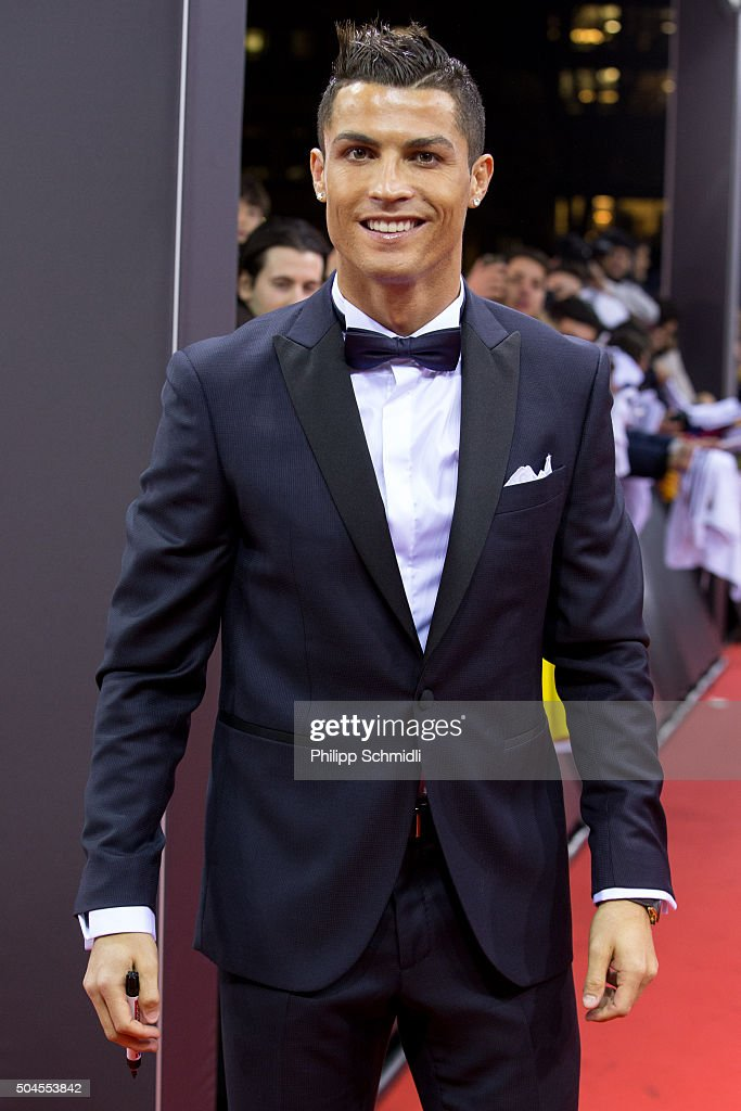 Ballon d'Or nominee <a gi-track='captionPersonalityLinkClicked' href=/galleries/search?phrase=Cristiano+Ronaldo&family=editorial&specificpeople=162689 ng-click='$event.stopPropagation()'>Cristiano Ronaldo</a> of Portugal and Real Madrid arrives for the FIFA Ballon d'Or Gala 2015 at the Kongresshaus on January 11, 2016 in Zurich, Switzerland.