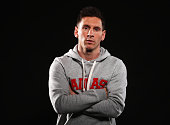 Ballon d'Or nominee Lionel Messi of Argentina and Barcelona poses for a portrait prior to the FIFA Ballon d'Or Gala 2014 at the Park Hyatt hotel on...