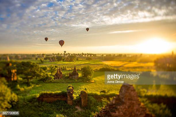 Ballons at Sunrise over Bagan, Myanmar
