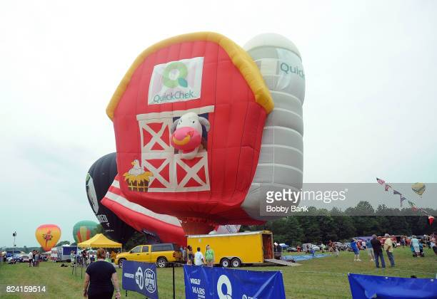 Balloon atmosphere at the 2017 Quick Chek New Jersey Festival Of Ballooning at Solberg Airport on July 28 2017 in Readington New Jersey