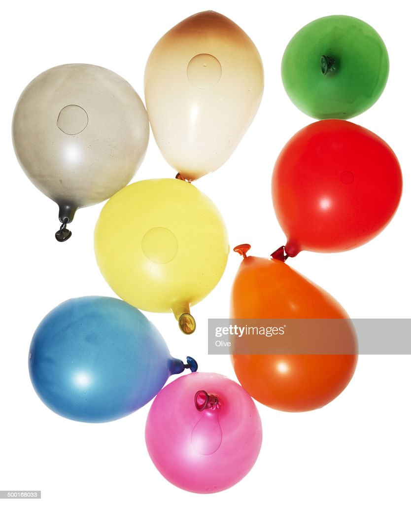 balloon full of water and deformed by movment