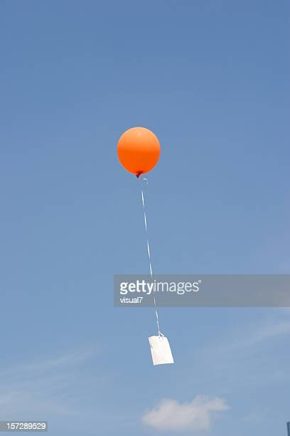 balloon message blue sky
