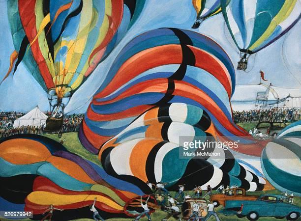 Balloon Race Lift Off Battle Creek Michigan by Franklin McMahon