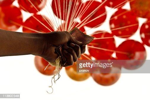 Balloon Salesman in language day fair : Stock Photo