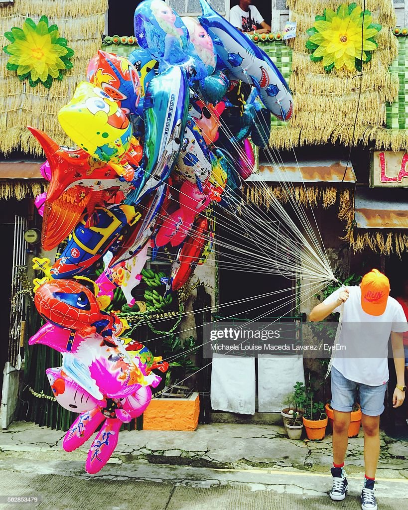 Balloon Vendor In Street