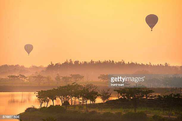 Balloon with landscape view
