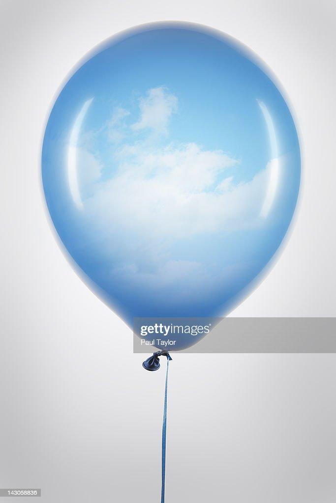 Balloon with Sky Inside : Stock Photo