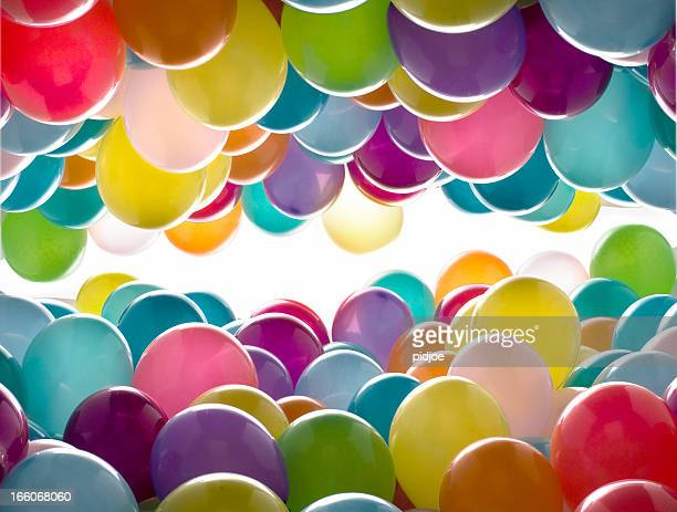 balloons all over the place