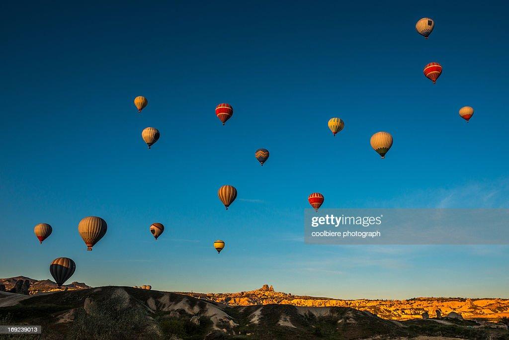 Balloons all over the Turkey sky : Stock Photo