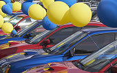Balloons at a Car Lot