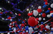 Balloons drop after Republican presidential candidate former Massachusetts Gov Mitt Romney accepted the nomination during the final day of the...