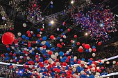 Balloons drop at a Republican National Convention