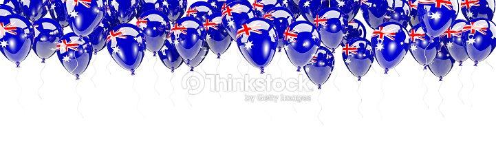 Balloons Frame With Flag Of Australia Stock Photo | Thinkstock
