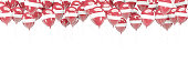 Balloons frame with flag of latvia isolated on white. 3D illustration