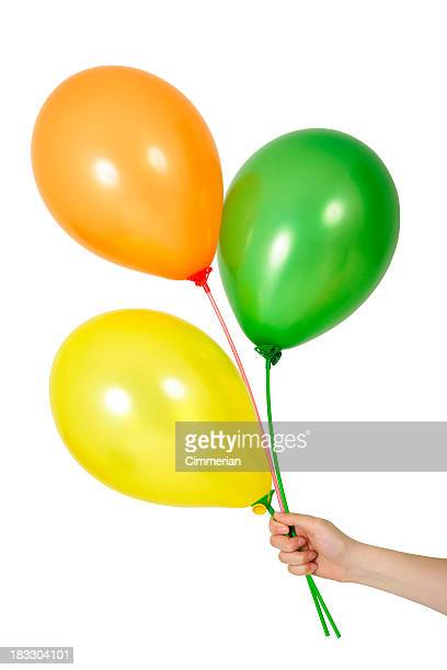 Balloons in a hand