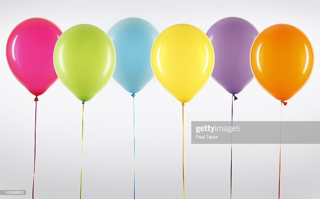 Balloons in Line