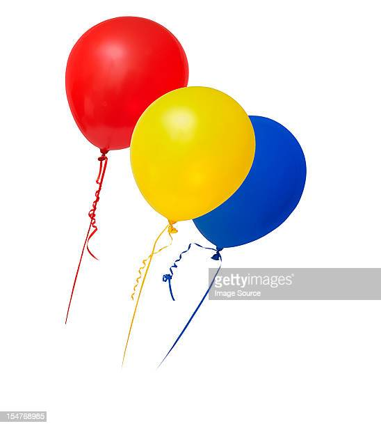 Balloons in primary colours