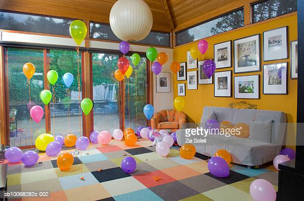 Balloons in room
