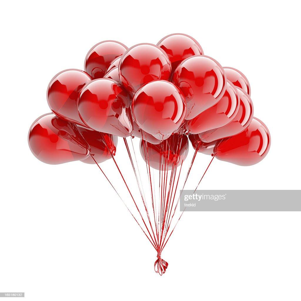 Ballons, isoliert auf weiss : Stock-Foto