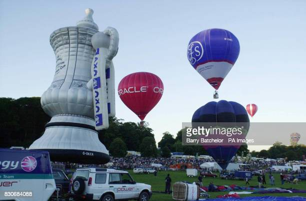 Balloons lifting off for the first time in this year's Bristol International Balloon Fiesta but with special restrictions to stop them spreading...