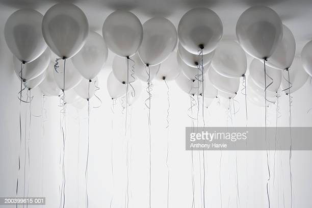 Balloons on ceiling (B&W)