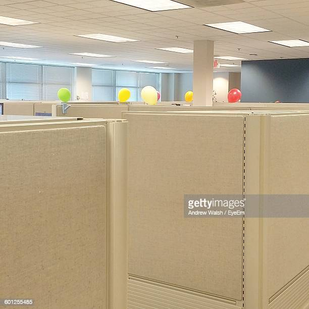 Balloons On Cubicles In Office