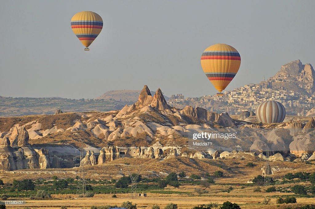 Balloons over Cappadocia : Stock Photo