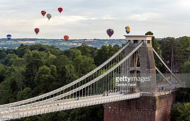 Balloons over Clifton Suspension bridge, Bristol