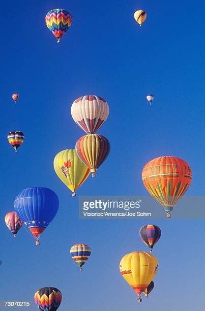 Balloons take to the air at the Albuquerque International Balloon Fiesta in New Mexico