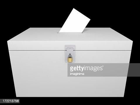 Ballot Box (Isolated with Clipping Path)