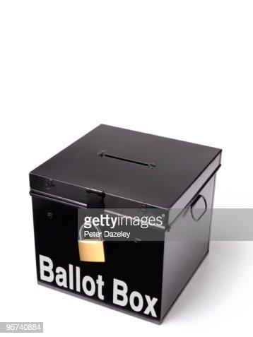 ballot box with padlock