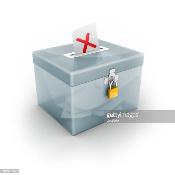 ballot box with x