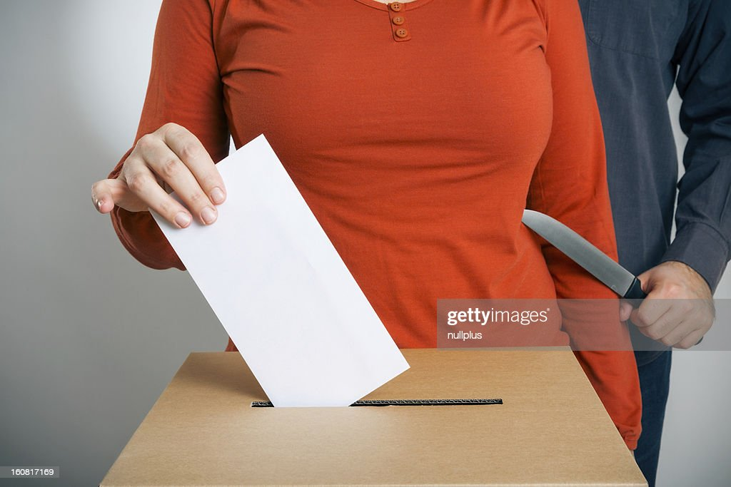 ballot rigging : Stock Photo