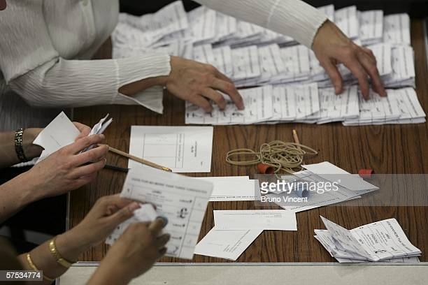 Ballots a counted in the local council election for Barking and Dagenham on May 4 2006 in London The right wing 'British National Party' is fielding...