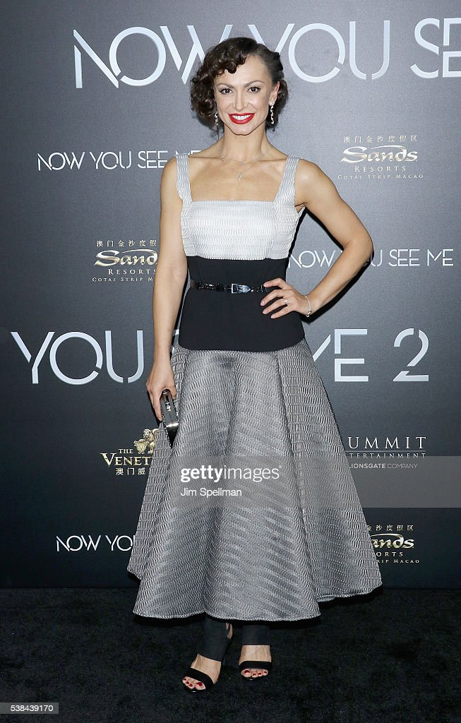 Ballroom dancer Karina Smirnoff attends the 'Now You See Me 2' world premiere at AMC Loews Lincoln Square 13 theater on June 6, 2016 in New York City.