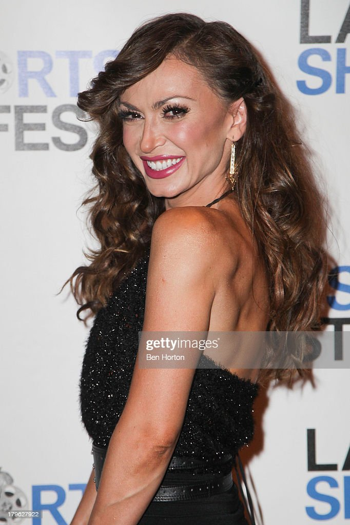Ballroom dancer <a gi-track='captionPersonalityLinkClicked' href=/galleries/search?phrase=Karina+Smirnoff&family=editorial&specificpeople=4029232 ng-click='$event.stopPropagation()'>Karina Smirnoff</a> attends the opening night of the 2013 Los Angeles International Short Film Festival at Laemmle NoHo 7 on September 5, 2013 in North Hollywood, California.