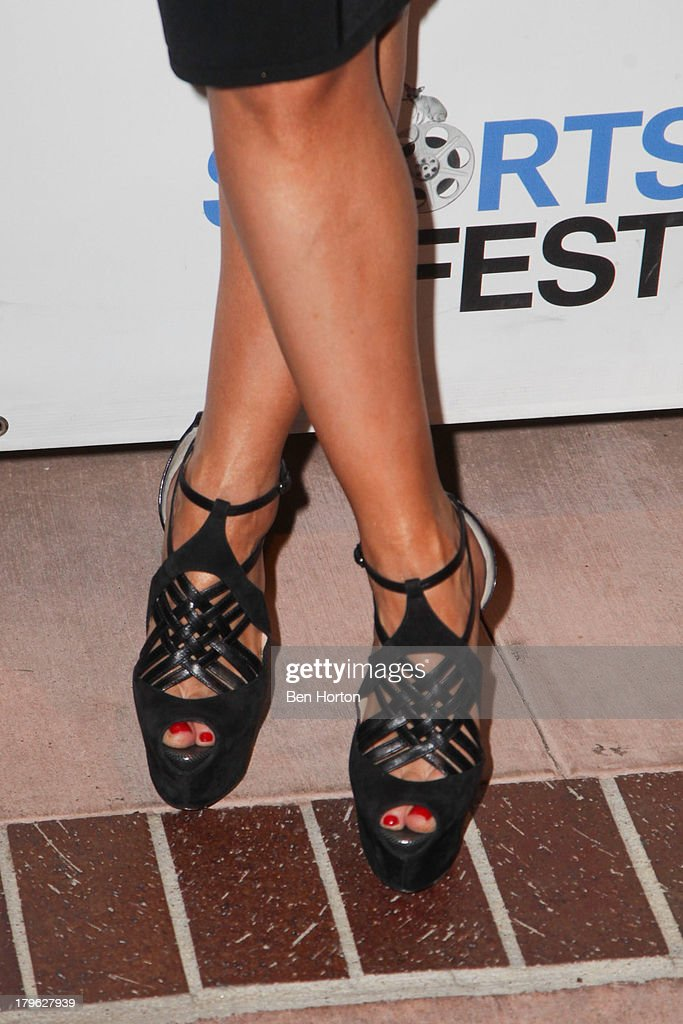 Ballroom dancer <a gi-track='captionPersonalityLinkClicked' href=/galleries/search?phrase=Karina+Smirnoff&family=editorial&specificpeople=4029232 ng-click='$event.stopPropagation()'>Karina Smirnoff</a> (shoe detail) attends the opening night of the 2013 Los Angeles International Short Film Festival at Laemmle NoHo 7 on September 5, 2013 in North Hollywood, California.