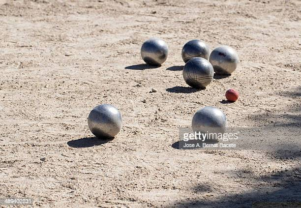 Balls a game of boules in the park