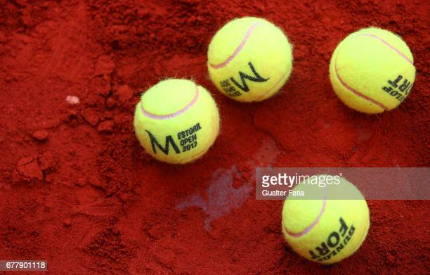 Balls during the match between Renzo Olivo from Argentina/Benoit Paire from France and Leander Paes from India/Andre Sa from Brazil during the...