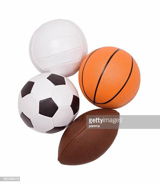 Balls, sport equipment.