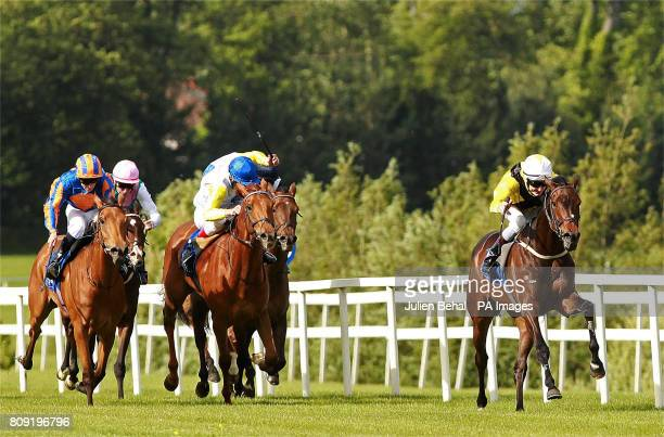 Ballybacka Lady ridden by Fran Berry winning the Derrinstown Stud 1000 Guineas Trial during the Derrinstown Derby Trial Day at Leopardstown Raceourse...